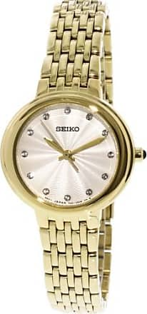 Seiko Womens SRZ504 Gold Stainless-Steel Japanese Quartz Dress Watch