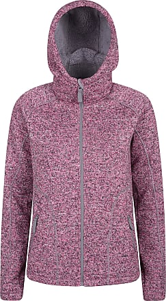 Mountain Warehouse Womens Nevis Fur Hoodie - Soft, Warm, Chin Guard & Fleece Lining with Adjustable Hood & Pockets- Ideal for Winter Pink 24