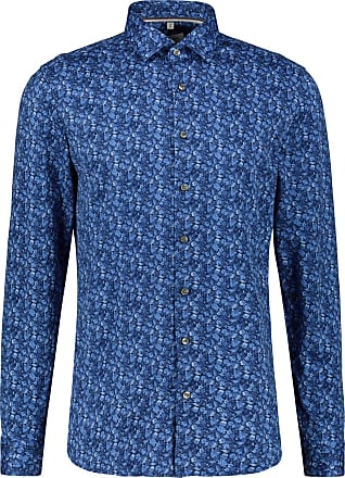 Olymp Olympic Level Five Mens Long-Sleeved Shirt Body Fit - Blue - 40