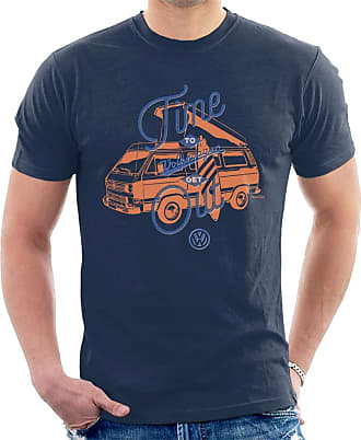 Volkswagen Time to Get Out T3 Camper Mens T-Shirt Navy Blue