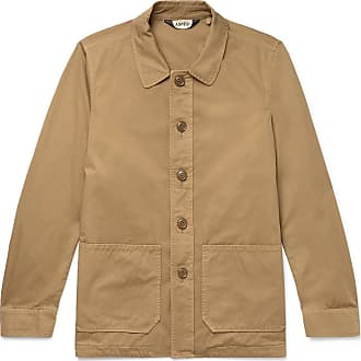 Aspesi Garment-dyed Cotton-twill Shirt Jacket - Camel