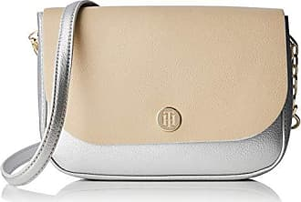 2a6ffd8380 Tommy Hilfiger My Crossover - Borse a tracolla Donna, Argento  (Silvermetallic&Sand), 6.5