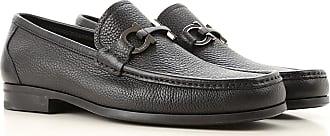 Salvatore Ferragamo Loafers for Men On Sale in Outlet, Black, Crackle Leather, 2019, 5 5.5 6 6.5 7 7.5