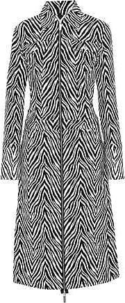 Helmut Lang Helmut Lang Woman Cotton And Silk-blend Zebra-jacquard Coat Animal Print Size M