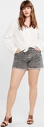 Violeta by Mango Leopard printed shorts