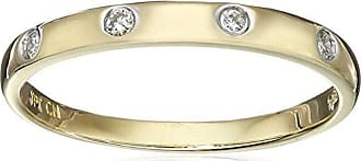Amazon Collection 10k Yellow Gold Diamond Accent Band, Size 8