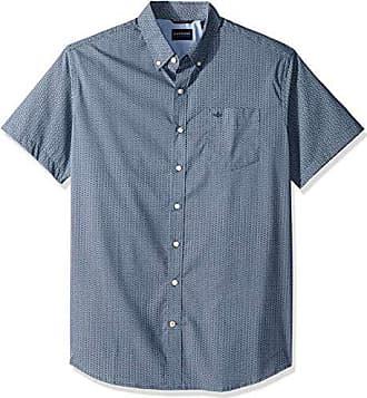 Dockers Mens Big and Tall Short Sleeve Button Down Comfort Flex Shirt, Searcy Ocean, 2XL