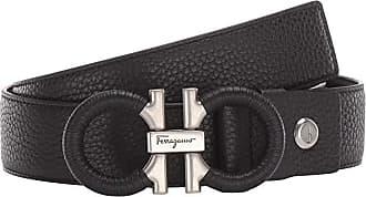 Salvatore Ferragamo Adjustable/Reversible Belt - 67A062 (Black) Mens Belts