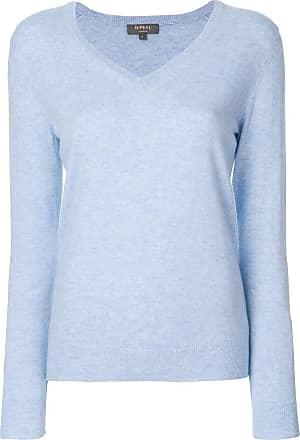 N.Peal cashmere V-neck jumper - Blue