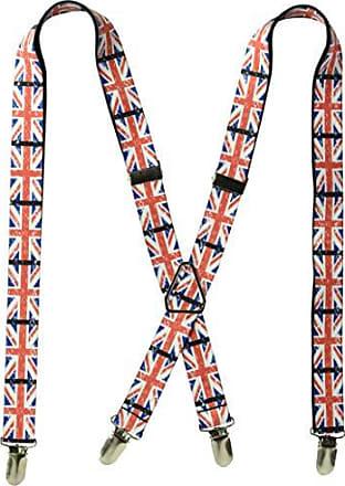 Buckle Down Buckle-Down Mens Suspender-United Kingdom, Multicolor, One Size