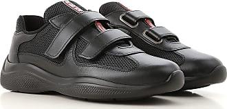 d5674b2f589 Prada Sneakers for Women On Sale, Black, Leather, 2017, 35