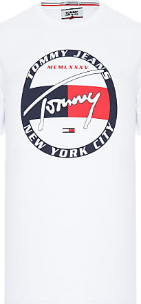 Tommy Jeans CAMISETA MASCULINA CIRCLE GRAPHIC - BRANCO