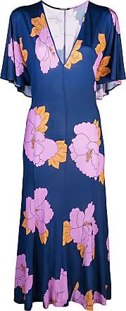 Dodo Bar Or Vestido Or Valeria midi - Azul