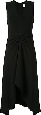 Dion Lee pierced drap sleeveless dress - Black