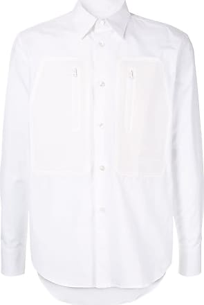 Fumito Ganryu Camisa com bolso no busto - Branco