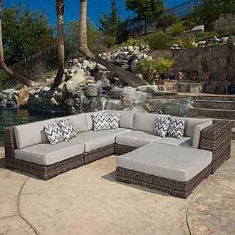 BEST SELLING HOME Outdoor Prestley 6 Piece Sectional Sofa Set with Sunbrella Cushion - 296145