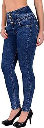 Damen Jeans High Waist Skinny Röhrenjenas Hochbund Stretch Hose bis Übergröße 48