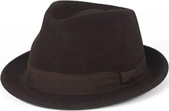 Hat To Socks Elegant Brown Wool Trilby Hat Waterproof & Crushable, Handmade in Italy (Brown, 54 cm)