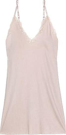 d54a835b61 Skin Skin Woman Corded Lace-trimmed Jersey Nightdress Pastel Pink Size 0