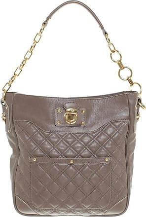 Marc Jacobs gebraucht - Marc Jacobs-Gesteppte Handtasche in Taupe - Damen - Leder