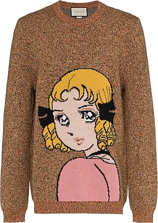 d66773bcd53 Gucci Manga Girl intarsia wool jumper - Brown