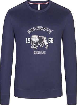 Sun 68 Übergröße : Sun 68, Sweatshirt aus 100% Baumwolle in Marine für Herren