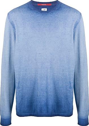 C.P. Company Moletom de jerséi desbotado - Azul