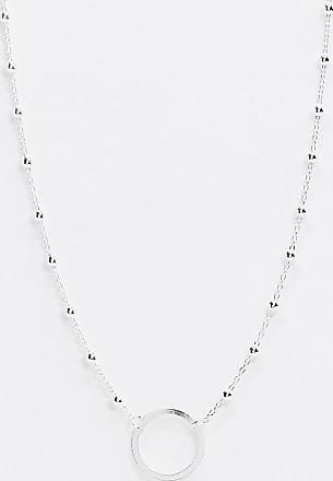 Kingsley Ryan Exclusive sterling silver choker necklace with circle pendant