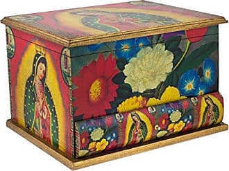 Novica 182714 Loving Virgin of Guadalupe Decoupage Jewelry Box