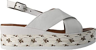 Inuovo 119002 - White Leather Sandal for Women White Size: 8.5 UK
