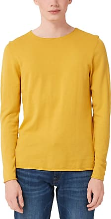 Q/S designed by Mens 40.910.61.2613 Jumper, Yellow (Honey 1394), Large