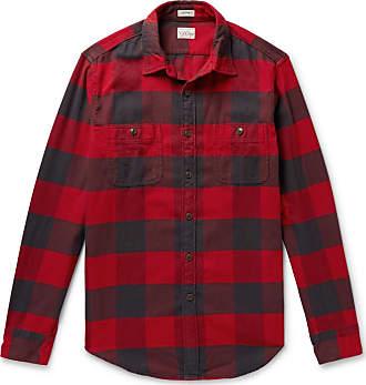 J.crew Buffalo-check Cotton-flannel Shirt - Red