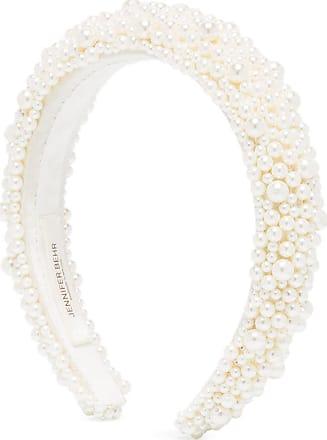 Jennifer Behr Headband Bailey com aplicação de pérolas - Branco