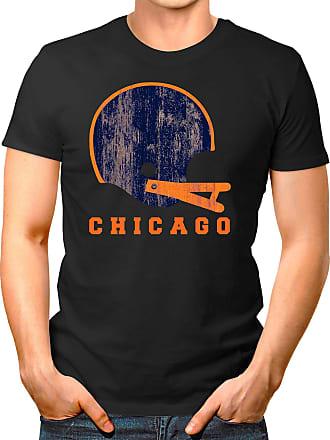 OM3 Chicago-Helmet - T-Shirt | Mens | American Football Shirt | S, Black