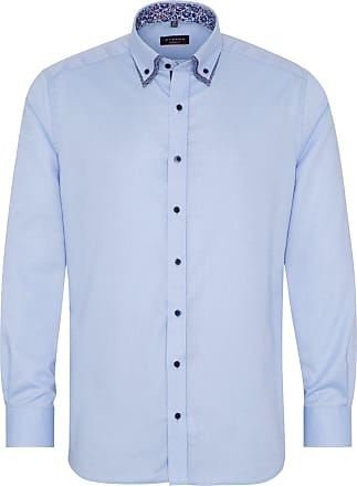 ETERNA Herren Langarm Hemd Modern Fit Short Lenght BD Oxford blau 2140.16.X04U