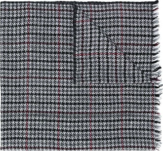 Isabel Marant houndstooth check scarf - Cinza
