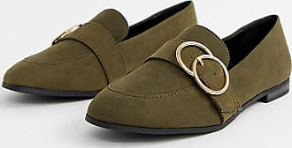 New Look double ring loafer in khaki - Green