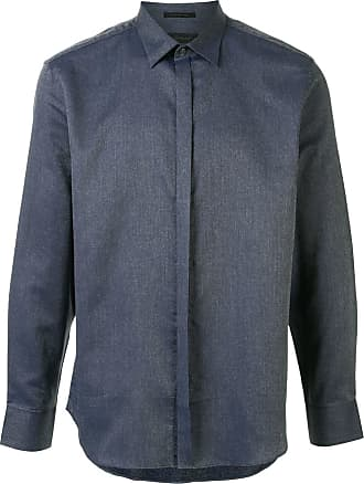 Durban tailored long-sleeved shirt - Azul