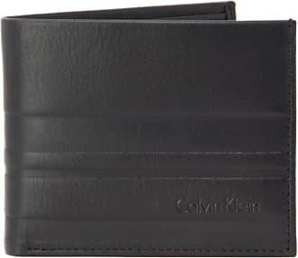 d99bd1600f Calvin Klein MENS K50K503562BLACK BLACK LEATHER WALLET