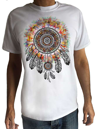 Irony Mens Tribal Red Indian Native American Feathers Culture T-Shirt Novelty Tie Dye C15-12 (Medium)
