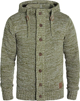 Solid Pierrot Mens Hooded Jacket Zip, Size:XL, Colour:Ivy Green (3797)