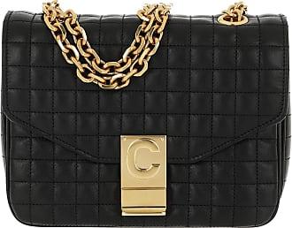 Celine C Bag Small Quilted Calfskin Black Umhängetasche schwarz