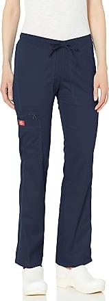 Dickies Gen Flex by Womens Low Rise Straight Leg Scrub Pant Small Petite Navy