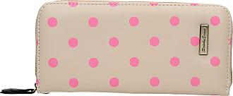 Swankyswans Bella Polka Dot Long Zip around Wallet Cream Pink Dot