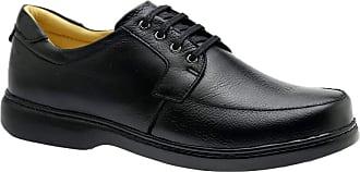 Doctor Shoes Antistaffa Sapato Masculino 414 em Couro Floater Preto Doctor Shoes-Preto-40