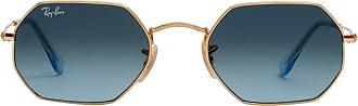 Ray-Ban Óculos de Sol Retangular Azul - Mulher - 53 US
