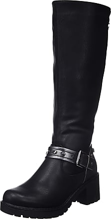 Refresh Womens 64750 Slouch Boots, Black, 6 UK