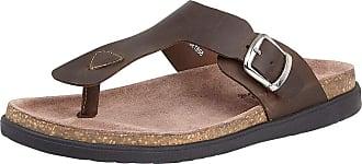 Lotus Grady Mens Toe Post Sandals 10 Brown