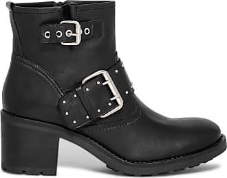 Boots Éram noir à cuir talon motard qMpSVUz