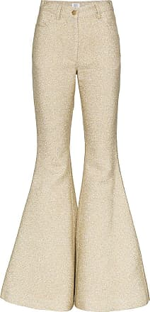 Rosie Assoulin Calça flare - Metálico